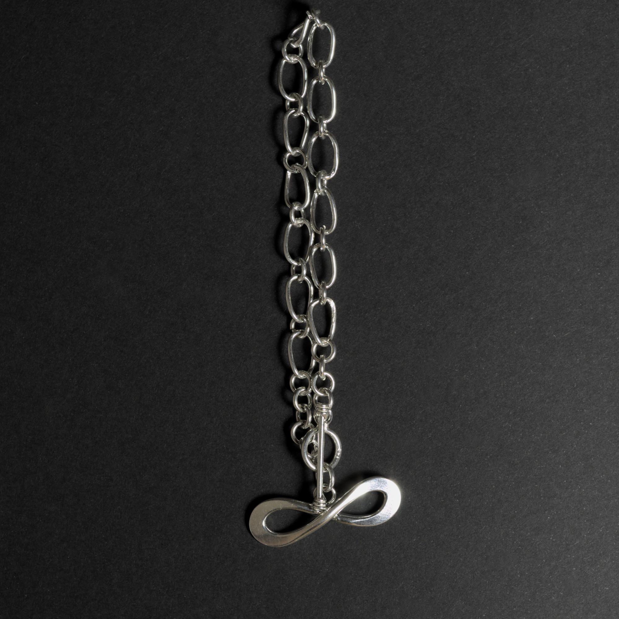 Infinitum: armband sterling silver, länkar med glansig finish