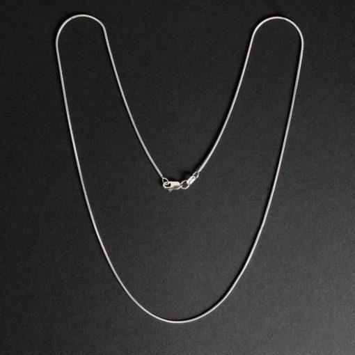 Gamma - Halsband sterling silver, lax ben, med glansig finish