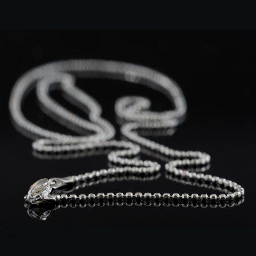 Naos: Halsband sterling silver, små bollar, med glansig finish