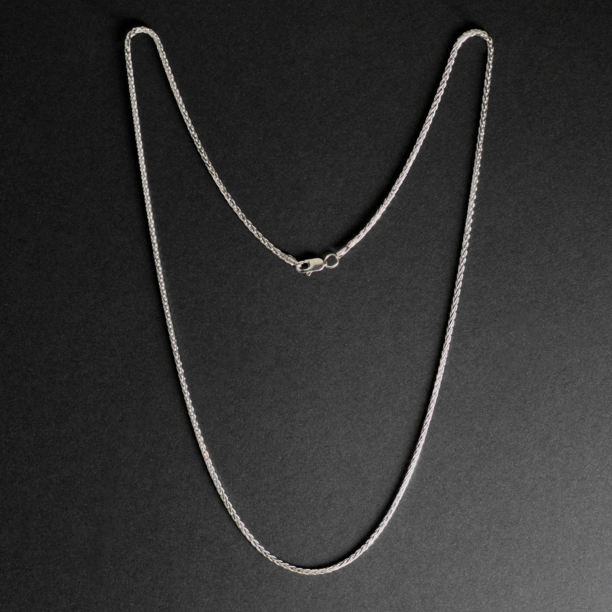 Sadira: Halsband sterling silver, flätor, med glansig finish