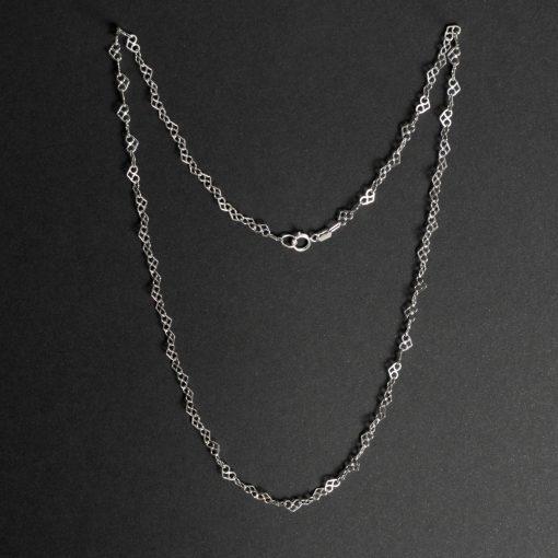 Suhail: halsband sterling silver, små hjärter, med glansig finish