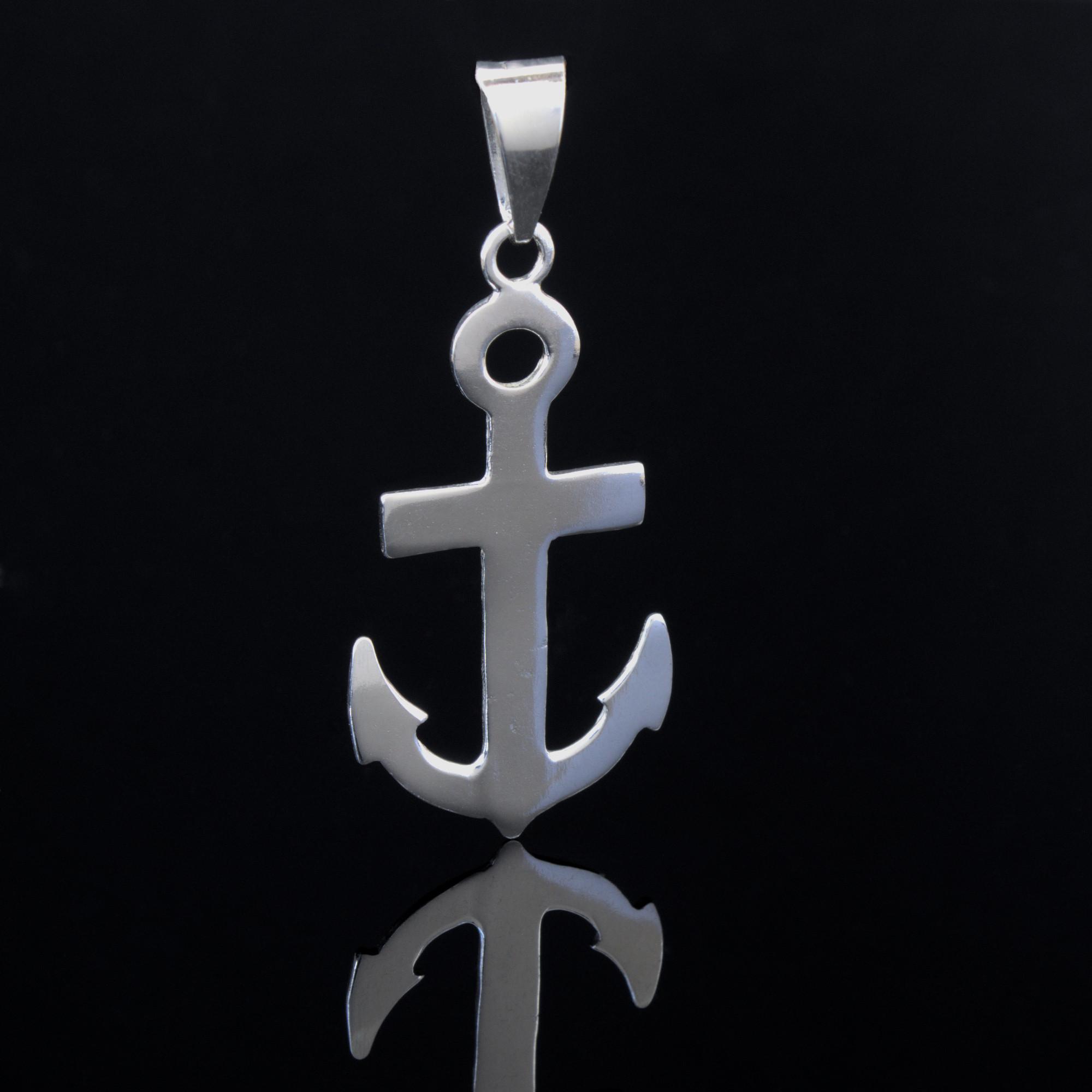 Ankar: Glansig belock med ankar form. Material är sterling silver.