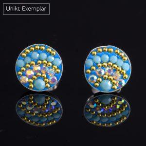 Lalande: Örhängen sterling silver, cirkel med kristaller