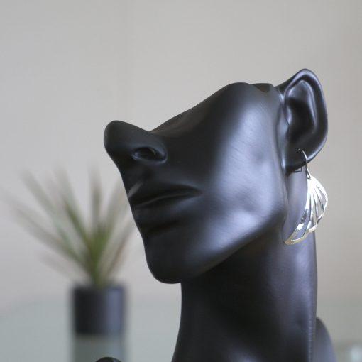 Abanico: Örhängen sterling silver, triangel med glansig finish