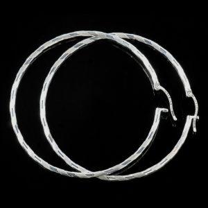 Aro Catarina: Örhängen sterling silver, cirkel, med glansig och borstad finish