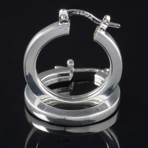 Aro Susan: Örhängen sterling silver, cirkel med glansig finish