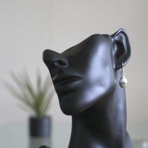 Boötis: Örhängen sterling silver, oval med glansig finish