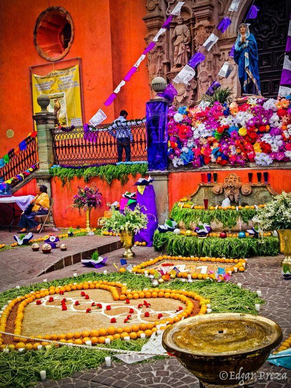 Altare Jungfru Maria Mexiko under Påsklov