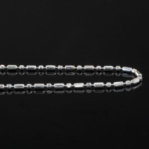 Cielo - Halsband sterling silver, små cylindrar och bollar