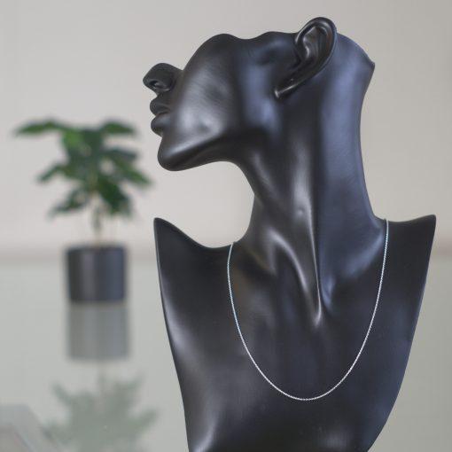 Deneb Halsband sterling silver, platta runda länkar