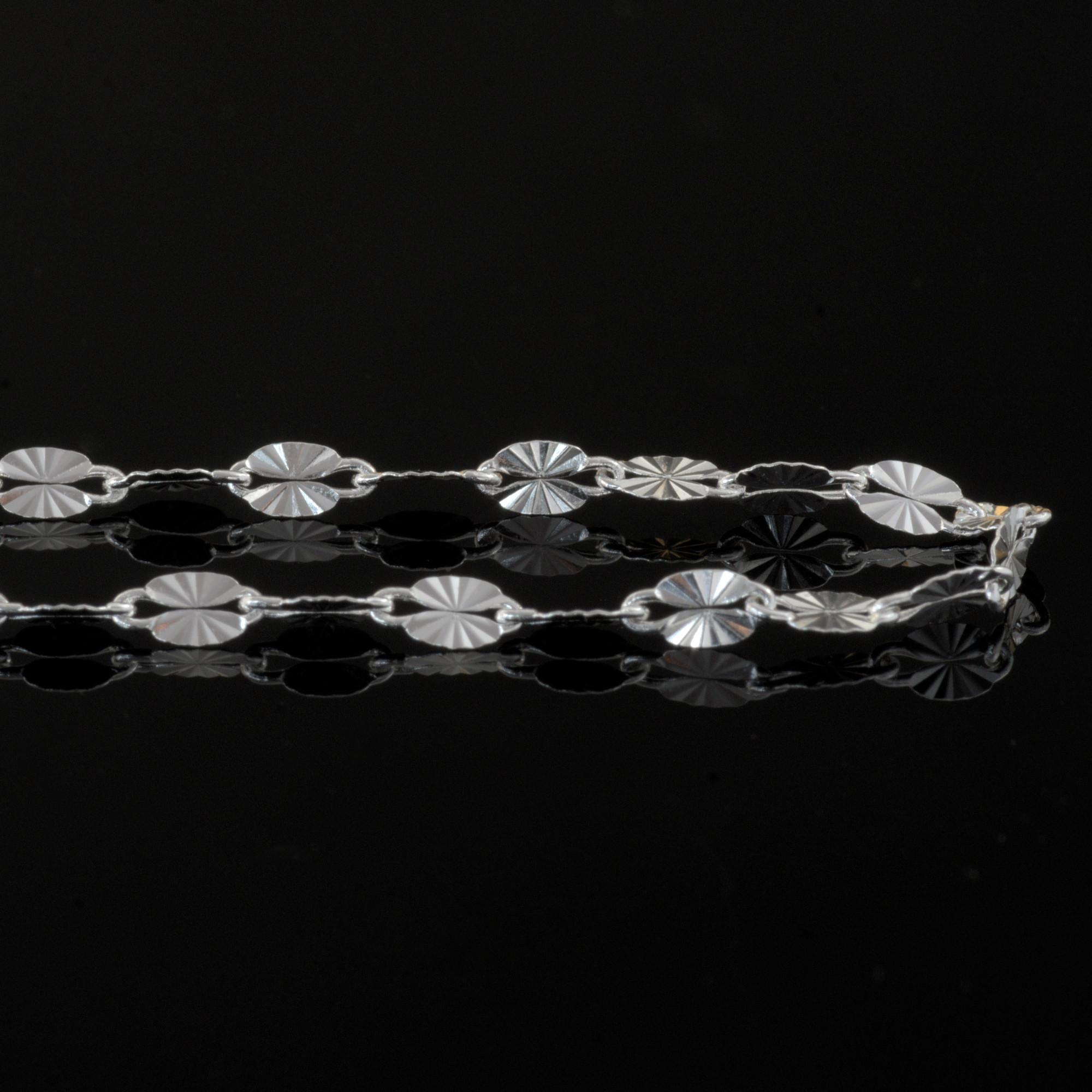 Hoja - Halsband sterling silver, små blad