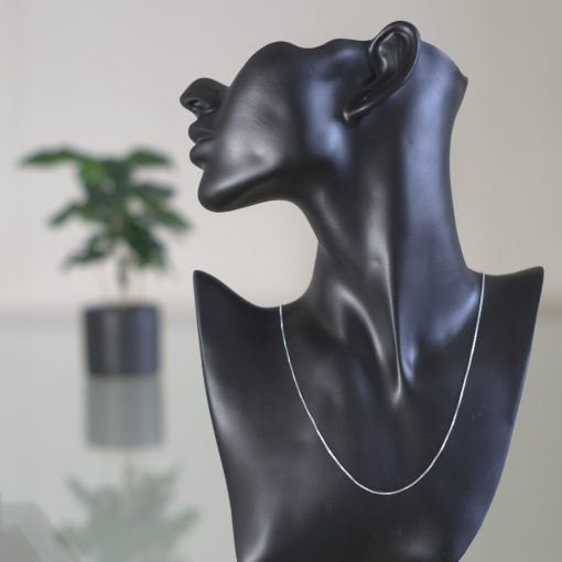 Ara - Halsband sterling silver, små fyrkantiga länkar