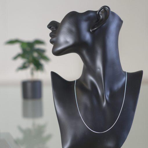 Alioth - Halsband sterling silver, små platta flätor