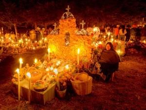 Offer på begravningsten