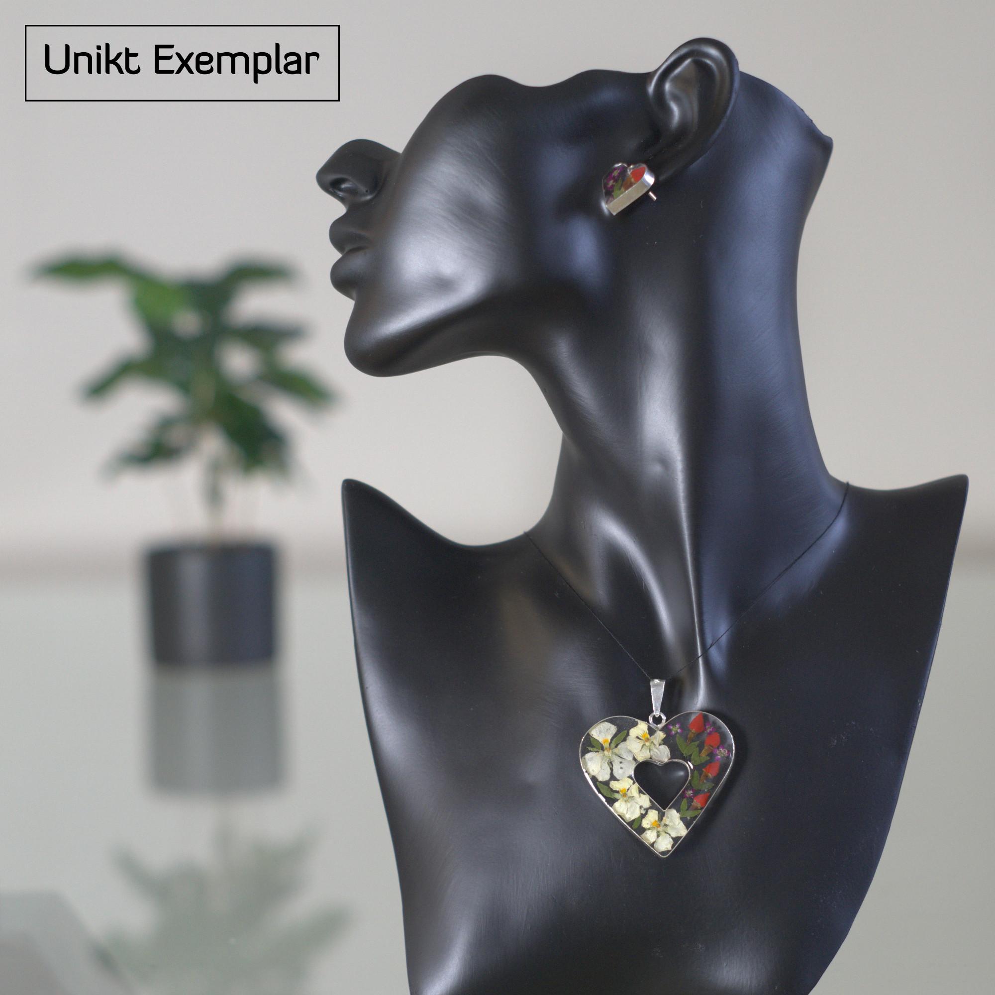 Alicia - Kombination med berlock och örhängen, röd, lila, grön
