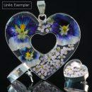 Camila - Kombination med berlock och örhängen, mörk blå, lila