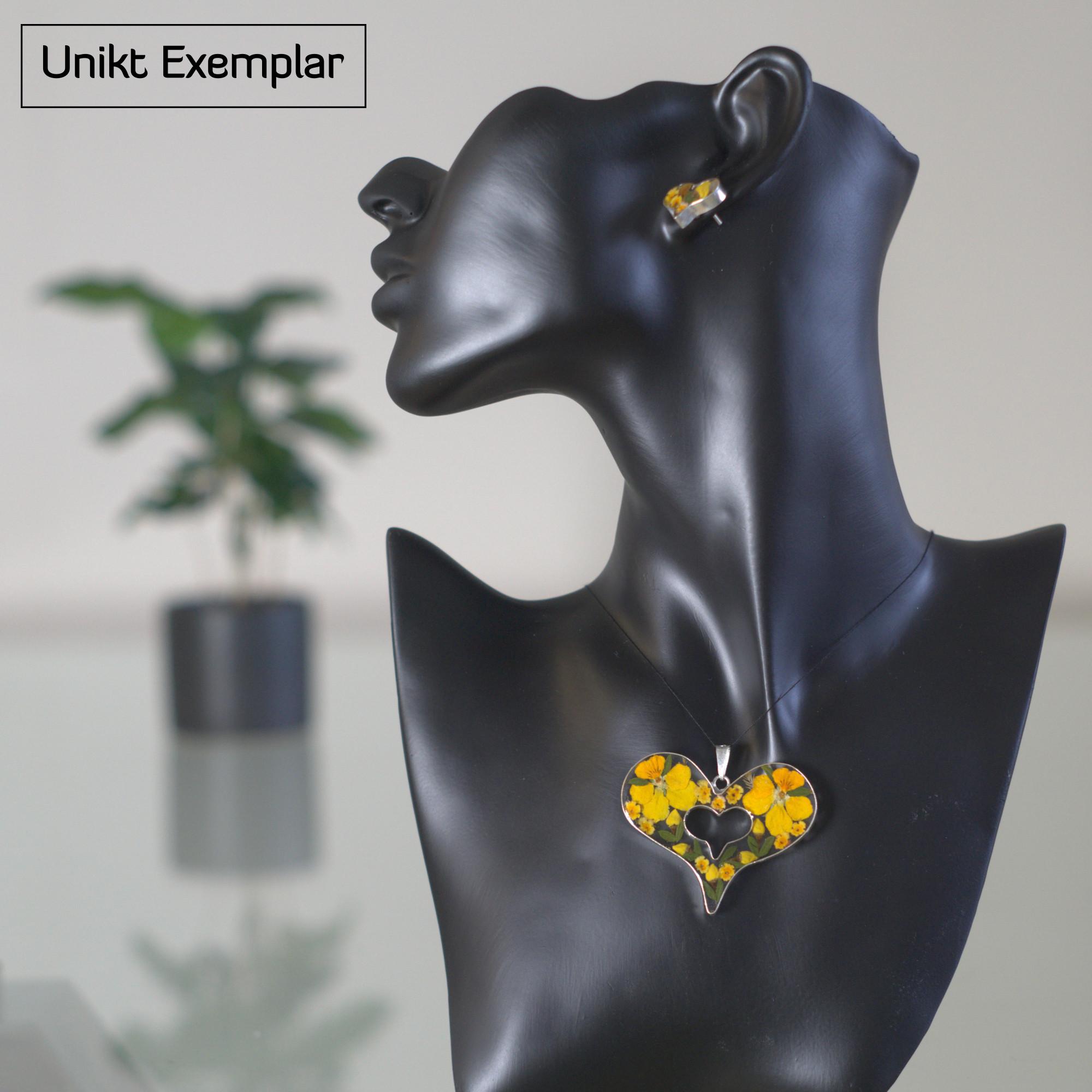 Amelia - Kombination med berlock och örhängen, gul, orange, grön